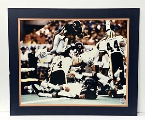 Walter Payton Signed and Matted 16x20 Photo Autographed Payton COA and Hologram