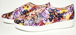 FitFlop Rally Leather Flower Crush Oyster Pink Sneaker, Women's Size 9