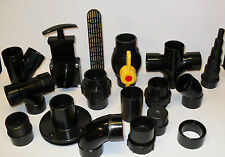 "1.5"" Solvent Weld Pipe and Fittings. Koi Fish Pond Filter"