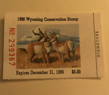 US Wyoming WY 1986 Duck Conservation stamp MNH #3