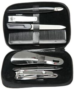 Mens Travel Manicure Nail Clipper Set Male Pedicure Travel Grooming Kit