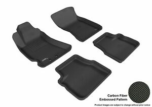 For 2009-2013 Subaru Forester Kagu Carbon Pattern Black All Weather Floor Mat