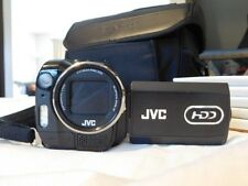 Jvc hdd camcorder # [gz-mg555u] 5 mega pixel 10x zoom 2x batt dock station & bag