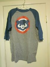 Chicago Cubs T Shirt Adult Large Gray Blue NEW