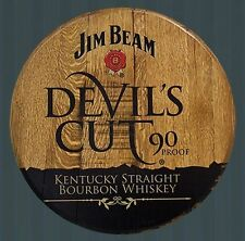 Jim Beam Devil's Cut  Licensed Authentic Barrel Head