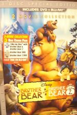 BROTHER BEAR AND BROTHER BEAR 2 DVD AND BLURAY  3 DISC SPECIAL EDITION