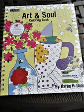 """Lang Art & Soul Adult Coloring Spiral Bound 100 Page Book 9""""x11""""Acid Free Paper"""