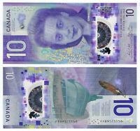 CANADA $10 Dollars UNC (2018) P-113 Viola Desmond Prefix FFB POLYMER Banknote