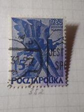 POLOGNE POLSKA, 1930, timbre 352, 100° INSURRECTION, oblitéré, VF used stamp