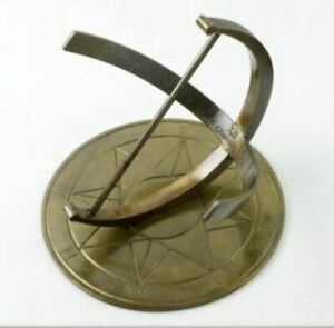 Antique Brass Zenith Garden Armillary Sundial