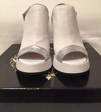 Women Leather platform sandals Maxara White Size 9