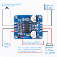 Mono Digital Amplifier Board DC 8-24V D Class 10W 20W 30W Amplifier Module