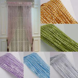 2M Hanging Beaded Curtain String Door Window Curtains Tassel Fly Screen Panel