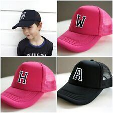 Adjustable Boys Girls Kids Hat Trucker Cap Personalised Letter Toddlers Caps