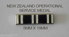 NEW ZEALAND OPERATIONAL SERVICE MEDAL RIBBON BAR 5MMX19MM ENAMEL & NICKEL PLATED