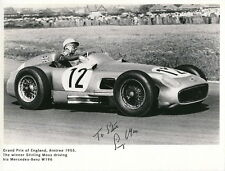 STIRLING MOSS HAND SIGNED 6x8 PHOTO      1955 GRAND PRIX CHAMPION       TO STEVE