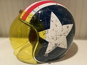 White, X-Large TORC 3//4 Helmet with Rebel Star Graphic T50 Route 66