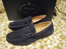 Prada Black Suede Loafers