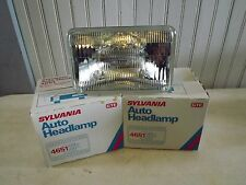 NOS Sylvania 4651 sealed high beam incandescent rectangle headlight PR USA H4651
