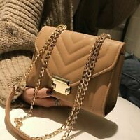 Female Square Bag High Quality Fake Leather Women's Handbag Lock Chain Luxury On