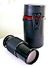 Vintage Vivitar 80-200mm 1:4.5 MC Zoom Lens Minolta MD Camera Mount Case Japan