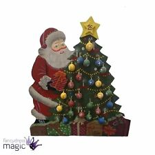 Wooden Festive Advent Hanging Christmas Countdown Decoration Ornament Santa Tree