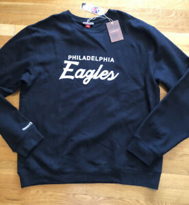 Mitchell & Ness Philadelphia Eagles Mens Sweatshirt Size 4XL Nwt Black Crew Neck
