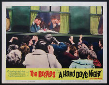 A HARD DAY'S NIGHT FOUR BEATLES ON TRAIN 1964 LOBBY CARD #4