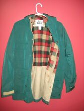 Woolrich Mens Green Hooded Coat Jacket Wool Lined Large