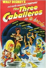 THE THREE CABALLEROS Movie POSTER 27x40 Aurora Miranda Carmen Molina Dora Luz