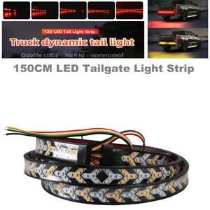 150CM LED Tailgate Light Strip Slim Two-color Streamer Running Light Brake Light