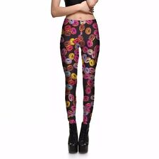 Women Leggings Slim Fit Style with Scrumptious Doughnut Pattern S-4XL