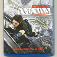 Mission Impossible Ghost Protocol 2011 PG-13 spy movie, mint Blu-ray Tom Cruise