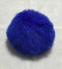 Pompon Lapin - 7cm Rabbit Fur Pom Pom Puff Ball - COBALT BLUE
