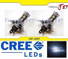 CREE LED 50W 9003 HB2 H4 WHITE 5000K TWO BULB HEAD LIGHT JDM SHOW LAMP REPLACE
