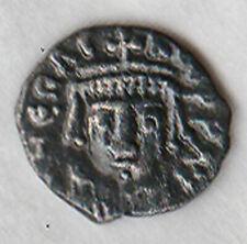 HERACLIUS (610-641AD) AR 1/2 Siliqua Heraclius / His son & Empress busts VF rare