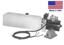 Commercial Hydraulic Dc Power Unit 4 Way Function Horizontal Mount 086 Gal