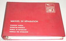 Manuel D'Atelier Simca 1300 + 1500, Année de Construction 1963 - 1966