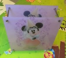 1 DISNEY MINNIE MOUSE NIGHT STAND LAMP LIGHT BOX BEDROOM TABLE GIRLS PINK