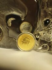 YEAR OF THE DRAGON 2012 - 1/10 OZ $15 DOLLAR 9999 GOLD COIN - IN CAPSULE !
