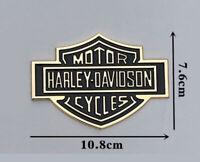 Harley Davidson Motorcycle Body Tank Emblem Badge Logo Metal Sticker Gold Black