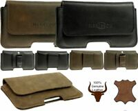 HERISSON GENUINE LEATHER BELT CLIP WAIST POUCH HOLSTER  CASE FOR APPLE IPHONE 8