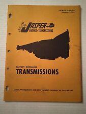 70 's 60 's Jasper Engine & Transmission Catalog Guide Book