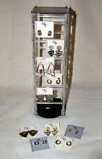 4 sided Earring Display with Earrings