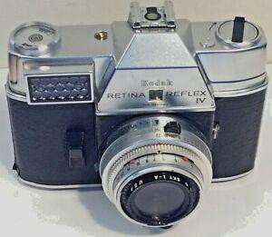 Kodak Retina Reflex IV SLR 35mm Film Camera Xenar f/2.8 50mm Lens Synchro Compur