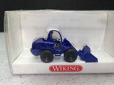HO 1/87 Wiking WI-693 08 THX Wheeled Loader - Front end  - Blue