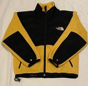 The North Face Youth Yellow/Black Denali Polartec Full Zip Jacket Sz Small