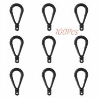 100 Lobster Claw Clasp Keychain Hooks Backpack Clip Jewelry Findings Connector