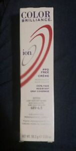 ORIGINAL ion COLOR BRILLIANCE Gray Coverage PPD-Free Creme Hair Color ~ 2.05 oz.