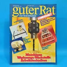 Guter Rat für Heimwerker 1986 Verlag für die Frau DDR Sonderheft Maschinen A